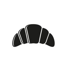 Simple black Croissant Icon vector image