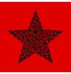 Star of girls vector image
