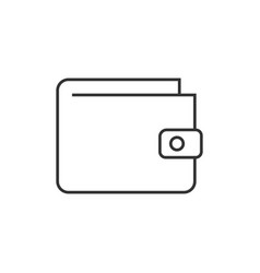wallet outline icon vector image vector image