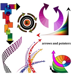 Decorative arrows and pointers vector image vector image