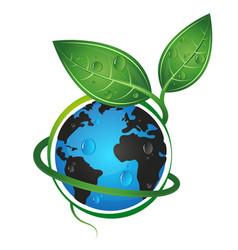 earth green eco concept vector image