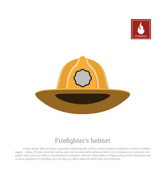 helmet of a firefighter on a white background vector image vector image