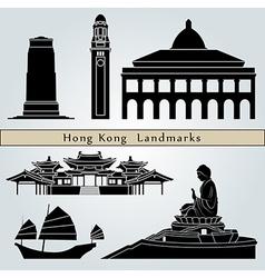 Hong Kong landmarks and monuments vector image