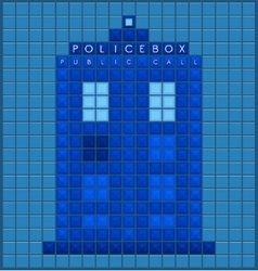 Old police box vector image vector image