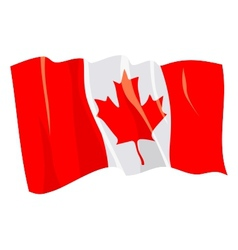political waving flag of canada vector image vector image