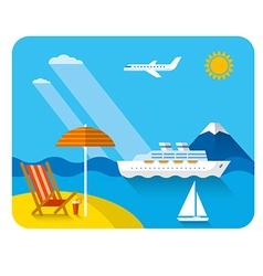 sea and beach resort vector image vector image