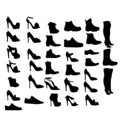 Shoes silhouette eps10 vector image
