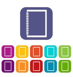 sketchbook icons set flat vector image