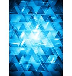Vibrant blue hi-tech design vector image vector image