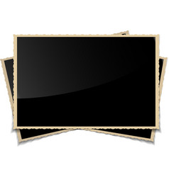 Empty Vintage Photo Frames Background vector image
