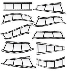 Film tape set roll vector