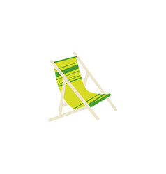 flat cartoon striped lounge chair tanning bed vector image