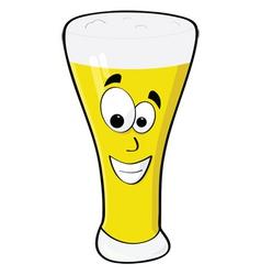 happy beer vector image