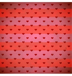 Red hearts striped pattern vector image vector image