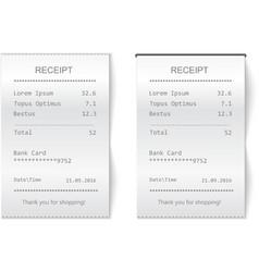 sales printed receipt Bill atm check vector image