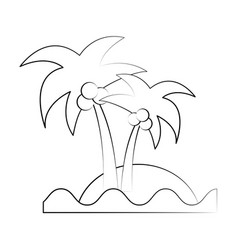 sea island beach palms vector image vector image