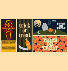 trick or treat collection on vector image
