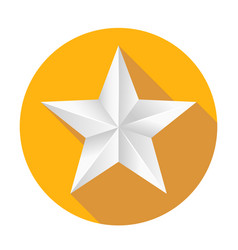 volumetric five-pointed star icon of classic vector image