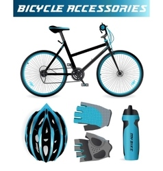 Bike or Bicycle accessories vector image vector image