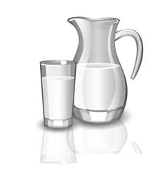 milk carafe cup of milk vector image