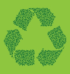 Recycle Leaf Green vector image vector image