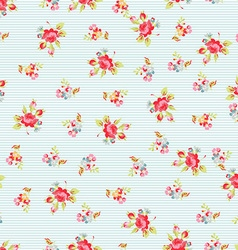 Seamless Pattern with small red roses vector image vector image