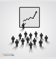 silhouette of people on presentation vector image