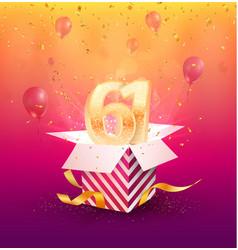 61st years anniversary design element vector