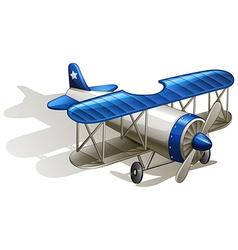 A propeller-powered aircraft vector