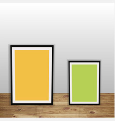 a3 a4 vertical blank picture frame vector image