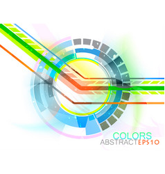 Abstract circular vector