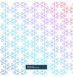 abstract line flower style pattern background vector image