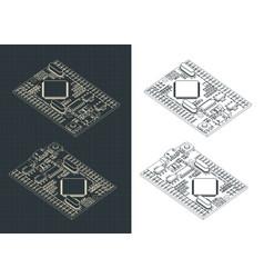 arduino mega pro drawings vector image