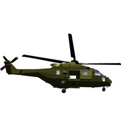 Army helicopter vector
