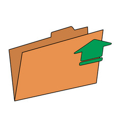 Arrow documents folder vector