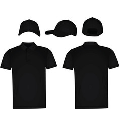 Baseball cap and polo t shirt vector