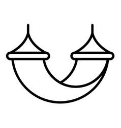 Beach hammock icon outline style vector