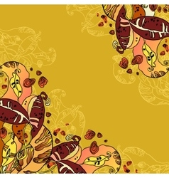 Beans abstract floral design vector image