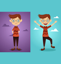 Before and after attitude vector