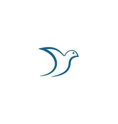 bird dove logo template vector image