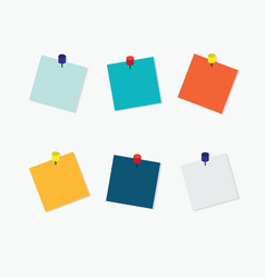 blank colorful sticky notes vector image