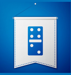 Blue domino icon isolated on blue background vector