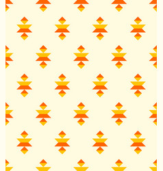 bohemian aztec orange elements pattern vector image
