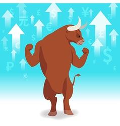 Bull market presents uptrend stock market vector image