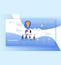 business innovation landing page template idea vector image