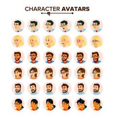business people avatars set man woman vector image