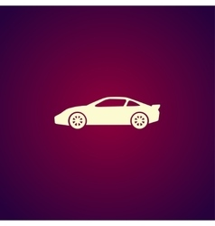 Car icon Flat design style vector image vector image