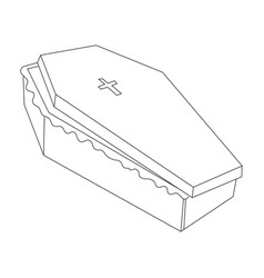 cartoon image of spooky coffin vector image