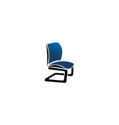 chair furniture logo design template vector image