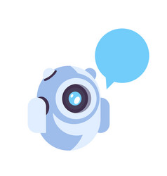 chat bot robot chat bubble icon artificial vector image